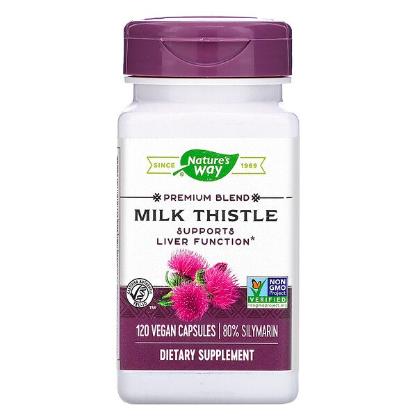Nature's Way, Milk Thistle, Standardized, 120 Vegan Capsules