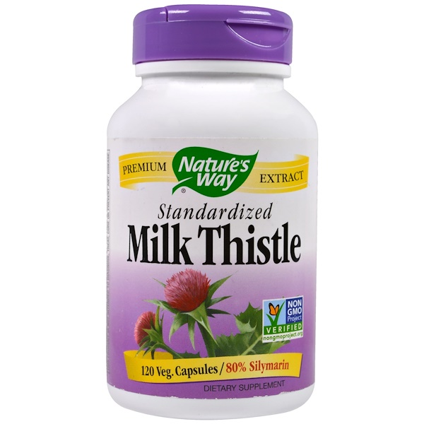 Nature's Way, Milk Thistle, Standardized, 120 Veggie Caps