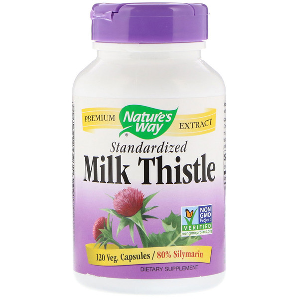 Nature's Way, Milk Thistle, Standardized, 120 Veg. Capsules