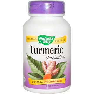 Nature's Way, Turmeric Standariziert, 120 Tabletten