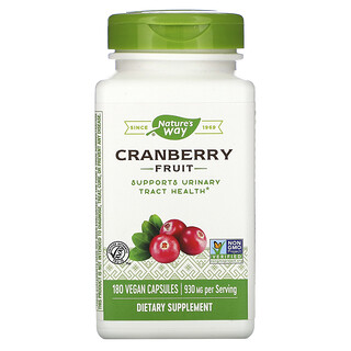 Nature's Way, Canneberge, 465 mg, 180capsules vegan