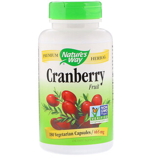 Nature's Way, Cranberry Fruit, 465 mg, 180 Vegetarian Capsules