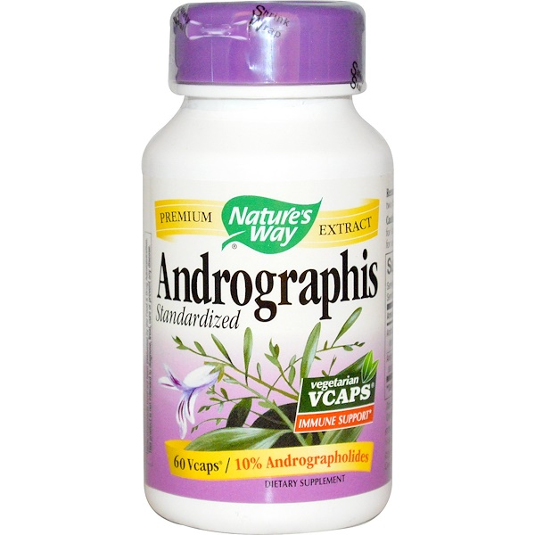 Nature's Way, Andrographis, Standardized, 60 Veggie Caps