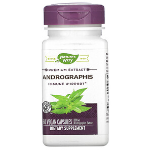 Натурес Вэй, Andrographis, 300 mg, 60 Vegan Capsules отзывы покупателей