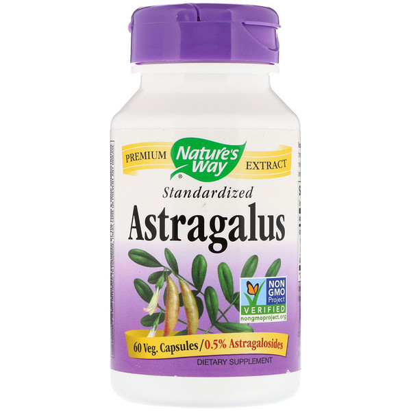 Nature's Way, Astragalus, Standardized, 60 Veg. Capsules