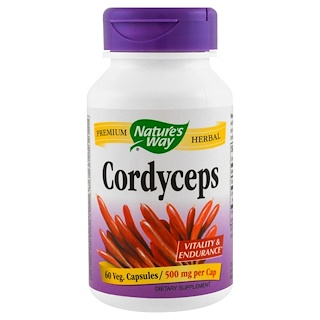Nature's Way, Cordyceps, 500 mg, 60 Veggie Caps