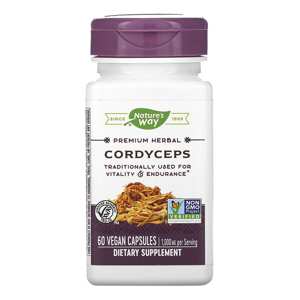 Nature's Way, Cordyceps, 1,000 mg, 60 Vegan Capsules