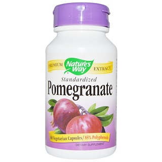 Nature's Way, Pomegranate, Standardized, 60 Veggie Caps
