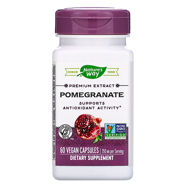 Premium Extract, Pomegranate, 350 mg, 60 Vegan Capsules
