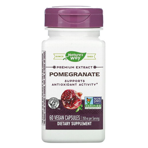 Nature's Way, Premium Extract, Pomegranate, 350 mg, 60 Vegan Capsules