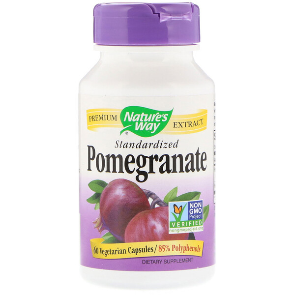 Nature's Way, Pomegranate, Standardized, 60 Vegetarian Capsules