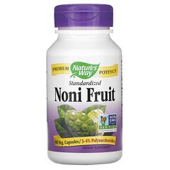 Nature's Way, 諾麗果,標準化,60 粒素食膠囊