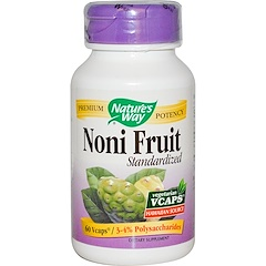 Nature's Way, Noni Fruit, Standardized, 60 Veggie Caps
