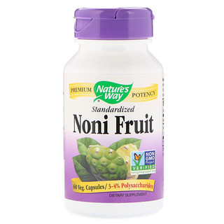 Nature's Way, Fruta Noni, estandarizada, 60 comprimidos vegetarianos