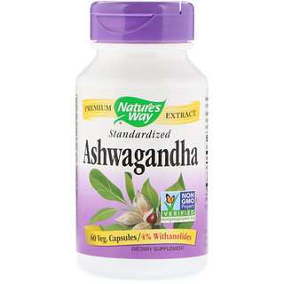 Nature's Way, Ashwagandha, Standardized, 60 Veg Capsules