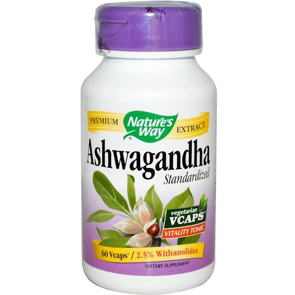 Nature's Way, Ashwagandha, Standardized, 60 Veggie Caps