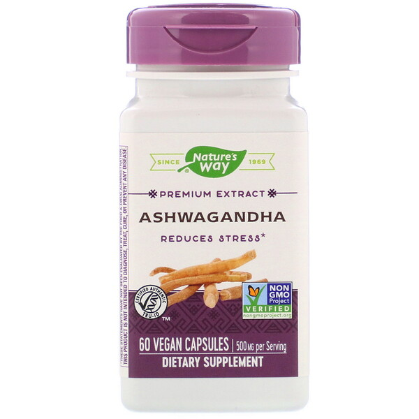 Nature's Way, Ashwagandha, 500 mg, 60 Vegan Capsules