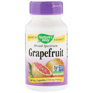 Nature's Way, Grapefruit, 250 mg, 60 Veg Capsules