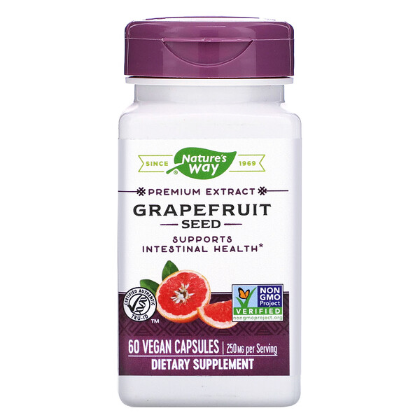 Nature's Way, Grapefruit Seed, 250 mg, 60 Vegan Capsules