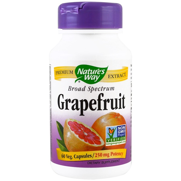 Nature's Way, Grapefruit, 250 mg , 60 Veggie Caps