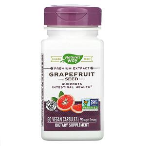 Натурес Вэй, Grapefruit Seed, 250 mg, 60 Vegan Capsules отзывы покупателей
