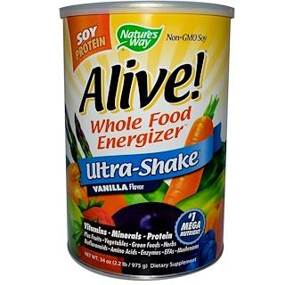 Nature's Way, Alive! Ultra-Shake, Vanilla Flavor, 34 oz (975 g)