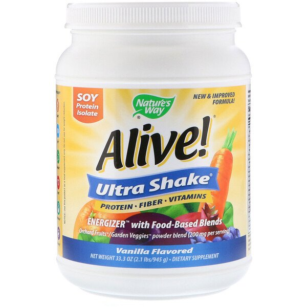 Nature's Way, Alive! Ultra-Shake, Vanilla Flavored, 2.1 lbs (945 g)