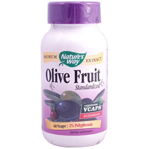 Nature's Way, Olive Fruit, Standardized, 60 Vcaps (Discontinued Item)