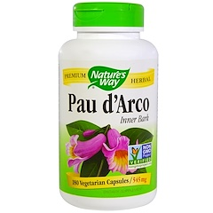 Nature's Way, Pau d'Arco Inner Bark, 545 mg, 180 Veggie Caps