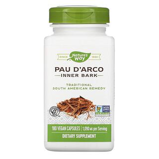 Nature's Way, Pau d'Arco, Inner Bark, 545 mg, 180 Vegan Capsules