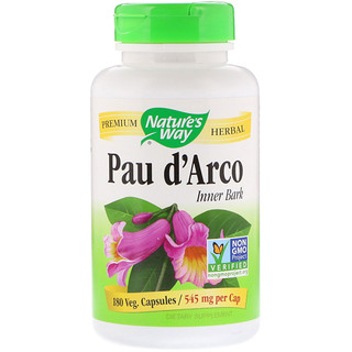 Nature's Way, Pau d'Arco Inner Bark, 545 mg, 180 Veg. Capsules