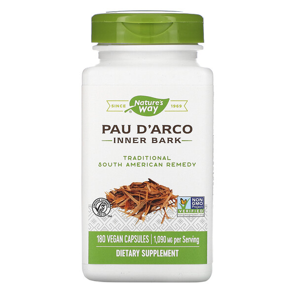 Nature's Way, Pau d'Arco, Inner Bark, 1,090 mg, 180 Vegan Capsules