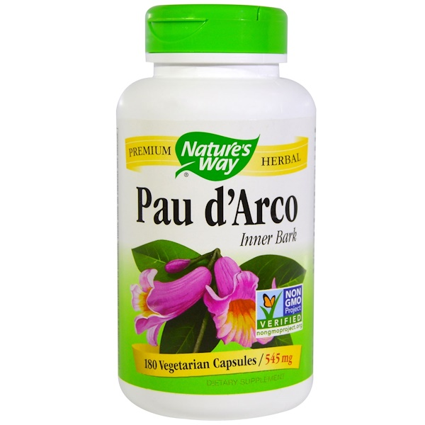Nature's Way, Pau d'Arco Inner Bark, 545 mg, 180 Veggie Caps