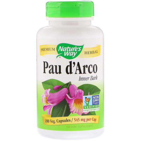 Nature's Way, Pau d'Arco Innere Rinde, 545 mg, 180 Veg. Kapseln