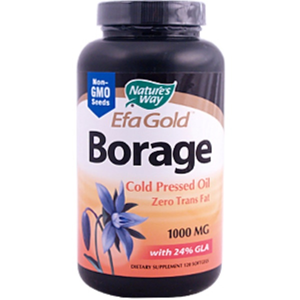 Nature's Way, Borage Efa Gold, 1000 mg, 120 Softgels (Discontinued Item)