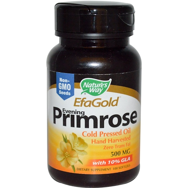 Nature's Way, EfaGold, Evening Primrose, 500 mg, 100 Softgels