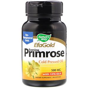 Натурес Вэй, EfaGold, Evening Primrose, 500 mg, 100 Softgels отзывы покупателей
