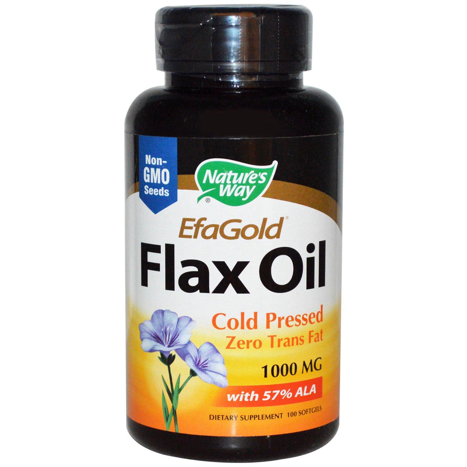 Nature's Way, Эфаголд, льняное масло, 1000 мг, 100 мягких таблеток