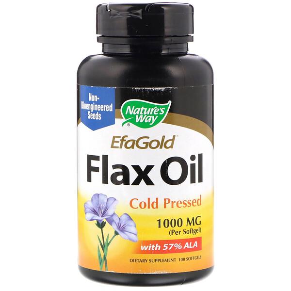 EfaGold, Flax Oil, 1000 mg, 100 Softgels