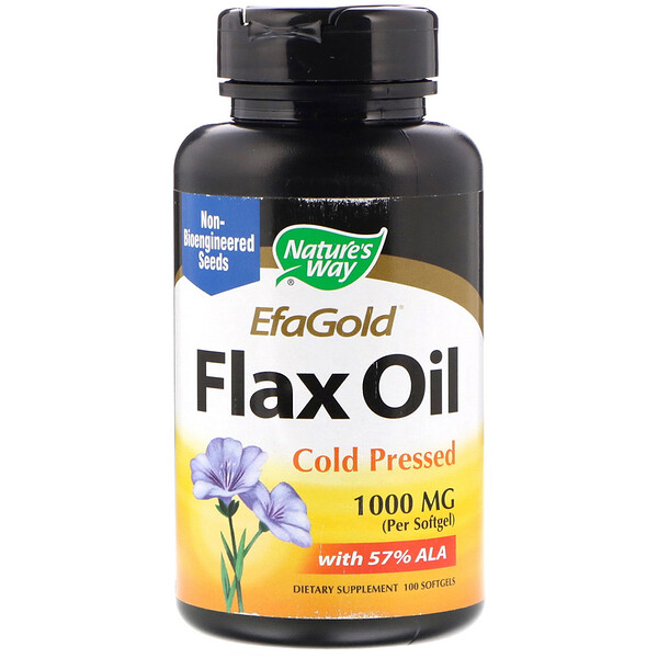 Nature's Way, EfaGold, Flax Oil, 1000 mg, 100 Softgels