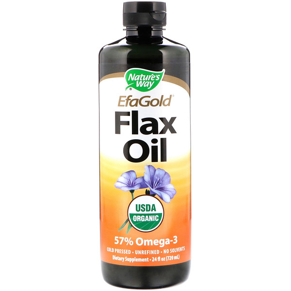 Nature's Way, EFAGold, Organic, Flax Oil, 24 fl oz (720 ml)