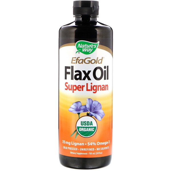 Organic, EfaGold, Flax Oil, Super Lignan, 24 fl oz (705 ml)