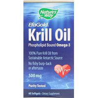 EfaGold, масло криля, 500 мг, 60 мягких капсул - фото