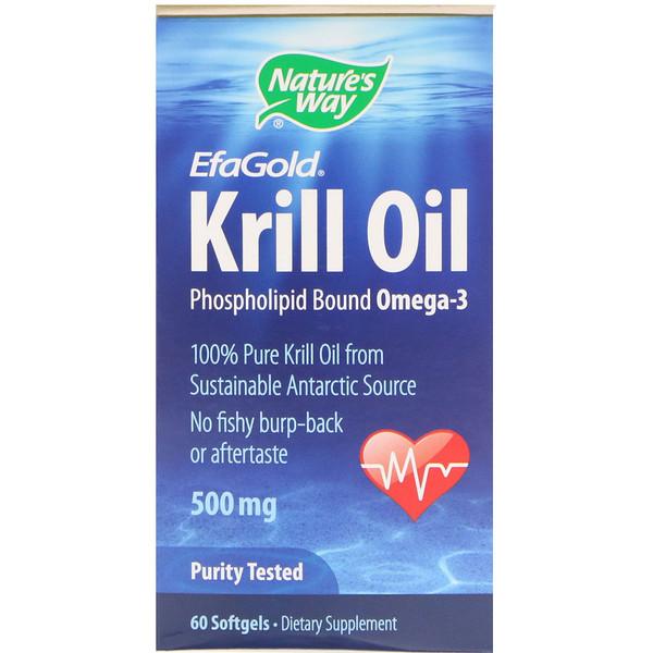 EfaGold, Krill Oil, 500 mg, 60 Softgels