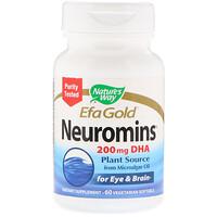 EFA Gold, Neuromins, ДГК, 60 вегетарианских жидких гелевых капсул - фото