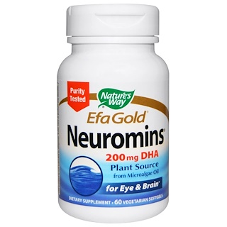 Nature's Way, EFA Gold, Neuromins, DHA, 60 Veggie Softgels