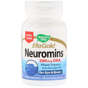 Натурес Вэй, EfaGold, Neuromins, 200 mg, 60 Vegetarian Softgels отзывы