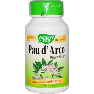 Nature's Way, Pau d'Arco Inner Bark, 545 mg, 100 Capsules