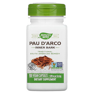 Nature's Way, Pau D'Arco Inner Bark, 545 mg, 100 Vegan Capsules