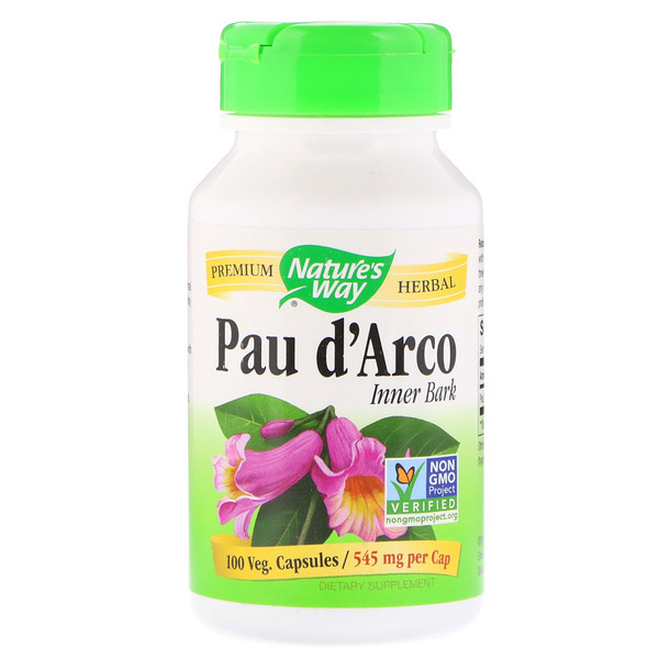 Nature's Way, Pau D'Arco Inner Bark, 1,090 mg, 100 Vegan Capsules